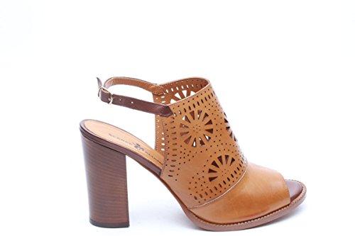 Scarpe italiane sandali sabot donna marrone
