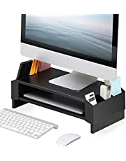 FITUEYES Monitor Stand Compatible with PC/Laptop/iMac 2 Tiers Computer Riser Desk with Storage Shelf for Home Office & School Desktop Organizer DT244001WP