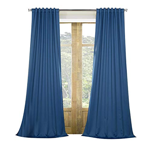 Panel Hacienda - Artdix Blackout Curtains Panels Window Drapes - Hacienda Blue 72W x 84L Inches (2 Panels) Nursery Insulated Solid Thermal Custom Blackout Curtains for Bedroom, Living Room, Kids Room,Kitchen
