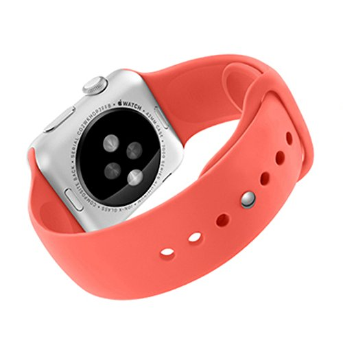 MXtechnic Latest Strap Bracelet Band Silicone Fitness Replacement for Apple Watch 38mm