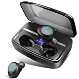 Wireless Headphones Bluetooth Earphones IPX8 Waterproof Deep Bass Stereo Sound Wireless Earbuds Built-in Mic Bluetooth 5.0 Earbuds with 3000mah Charging Case