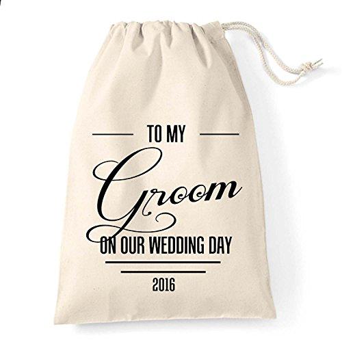 Large personalizzati, sacchetto regalo per la sposa prima del matrimonio Art Deco design