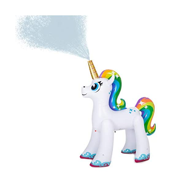 JOYIN Inflatable Unicorn Yard Sprinkler, Lawn Sprinkler for Kids, 4 Feet Tall 3