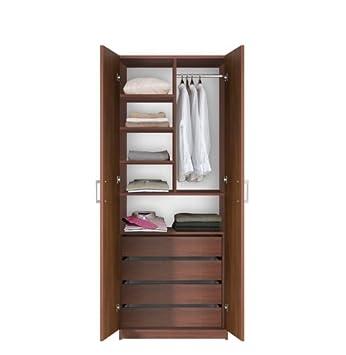 Bella Wardrobe Closet  Interior Drawers Double Doors