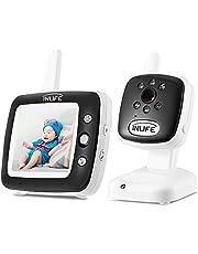 InLife Video Babyphone, Wireless Baby Monitor, Baby-Überwachungskamera mit 3.5 Zoll LCD Display, Baby Schlaflieder, Nachtsicht, Temperaturanzeige und Gegensprechfunktion