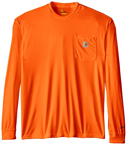 Carhartt Mens Big & Tall High Visibility Force Color Enhanced Long Sleeve T-Shirt
