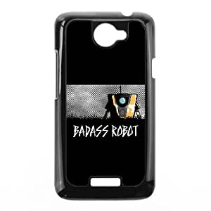 HTC One X Cell Phone Case Black Badass Robot Cssap