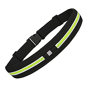 ONSON Running Belt,Outdoor Sweatproof Reflective Waist Pack Belt,Fitness Workout Belt for Trail Running or Hiking,Dual Pouch Bag for iPhone 7/7 Plus,6S/6S Plus,5/5S/SE,S7/S7 Edge-Green