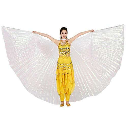 POQOQ Halloween Party Prop Soft Fabric Butterfly Wings Shawl Fairy Costume Halloween Accessory 142CM/55.9