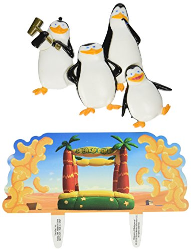 DecoPac Penguins of Madagascar Snack Attack! DecoSet Cake Topper