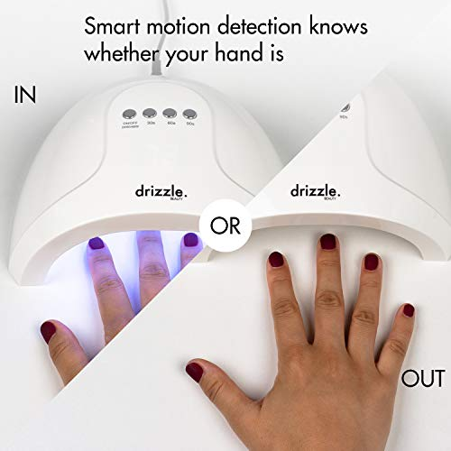 UV LED Nail Lamp 24W/48W Nail Dryer Salon Quality Nail UV Light Quick Curing Lamp for Gel Nails Polish with 30s 60s 90s Timer Sensor White