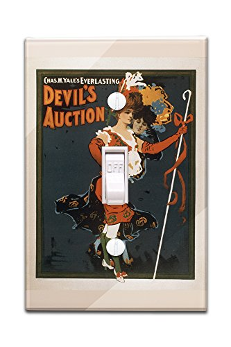 Costume Design National Theatre (Devil's Auction Woman in Costume Theatre Poster #1 (Light Switchplate Cover))