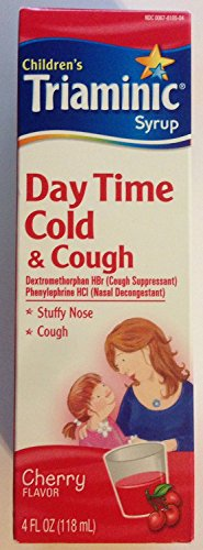 Children's Triaminic Cold & Cough Syrup - Day Time Cold & Cough Relief - Cherry Flavored - Net Wt. 4 Fl Oz (Pack of 2)