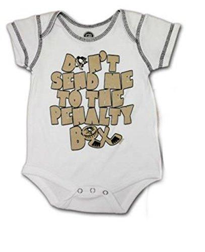 Pittsburgh Penguins Infant Onesie Size 0-3 Months Bodysuit Creeper - (Penguin Infant Creeper)