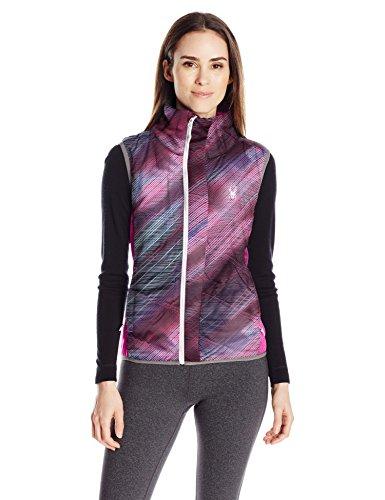 Spyder Women's Exit Insulator Vest, Geo Rays Print/Voila, Small ()