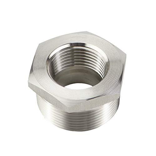 Quickun Stainless Steel Reducer Hex Bushing, 1-1/4