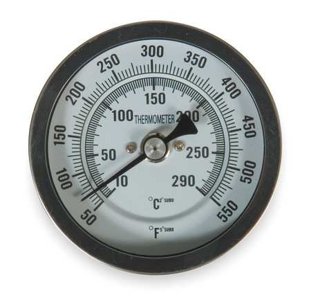 (Bimetal Thermom, 3 in Dial, 50 to 550F)