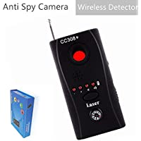 Wireless Detector for Anti Spy Hidden Camera,  Adjustable Detection Sensitivity Signal Bug RF Finder, GSM Voice Device Lens Detector