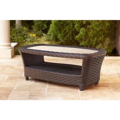 brown jordan highland patio coffee table