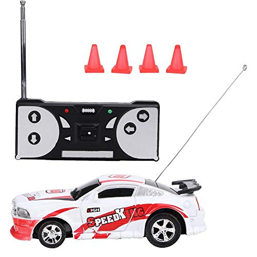 VGEBY1 Remote Control Car, Simulated Electric RC Car Mini Remote Control Vehicle Sport Racing Toy Kids Gift(red-White) -  VGEBYt6badzexwp-04