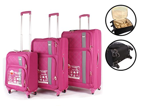 Aero Travel – Juego de maletas  Hombre unisex adulto Mujer rosa Luggage set