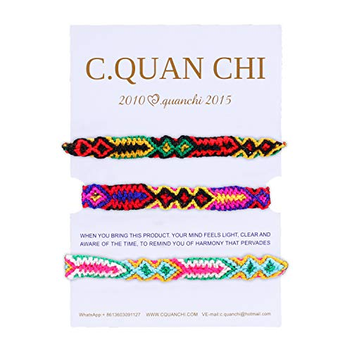 C·QUAN CHI String Bracelets StrandWoven Bracelet Women Wrist Beach Bracelet Bohemian Jewelry Fashion Handmade Braided Friendship Bracelet Cool Birthday Gifts Graduation Gifts Her]()