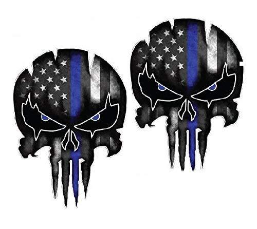 Kramer sticker's shop Blue Line Punisher (6