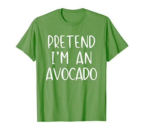 Pretend Avocado Costume Halloween Lazy Easy Last Minute T-Shirt