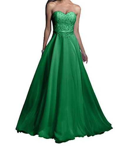 Grün Damen Abschlussballkleider Rosa Lang Spitze Partykleider Promkleider Abendkleider Chiffon Charmant zxdawxA