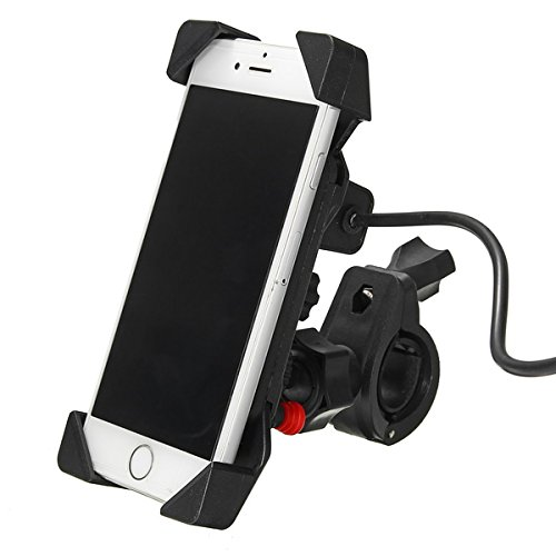 SENREAL 12-24V2.1A Universal Phone GPS USB Chargeable Holder for Electric Scooters Motorcycle Bike Bicycle by SENREAL