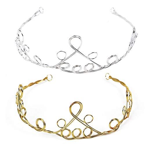 Pomeat 2pcs Alloy Metal Headband Tiara Headband Frame