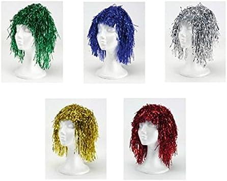 INVERCAS -Pack 12 pelucas metalizadas Multicolor: Amazon.es ...