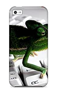 8154095K61252386 Iphone High Quality Tpu Case/ Keyboard Lizard Case Cover For Iphone 5c