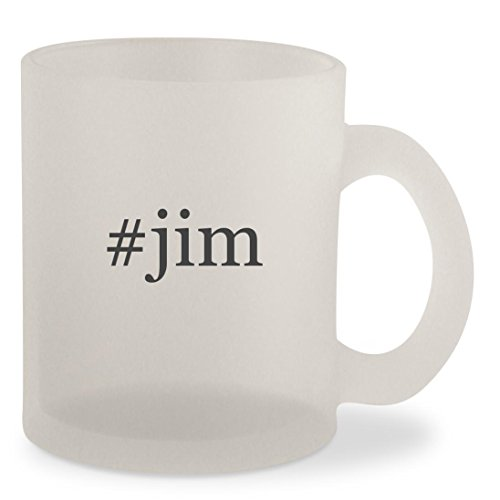 #jim - Hashtag Frosted 10oz Glass Coffee Cup - Jim Harbaugh Glasses