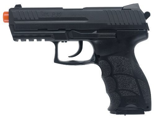 H&K P30 with Metal Slide Pistol (Black, (Automatic Airsoft Pistol)
