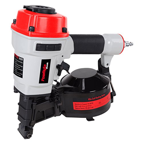 PowRyte 11 Gauge Air Coil Roofing Nailer – 3/4-Inch to 1-3/4-Inch