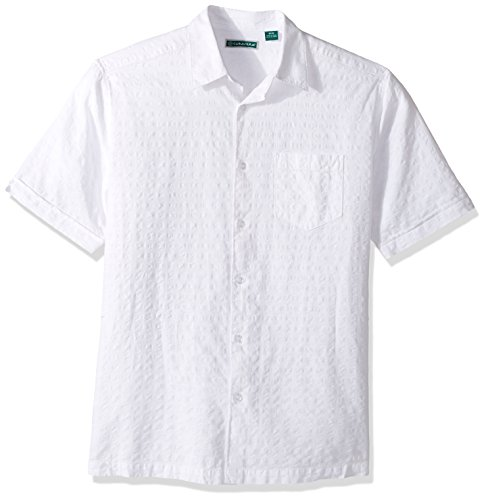 Cubavera Men's Short-Sleeve Seersucker