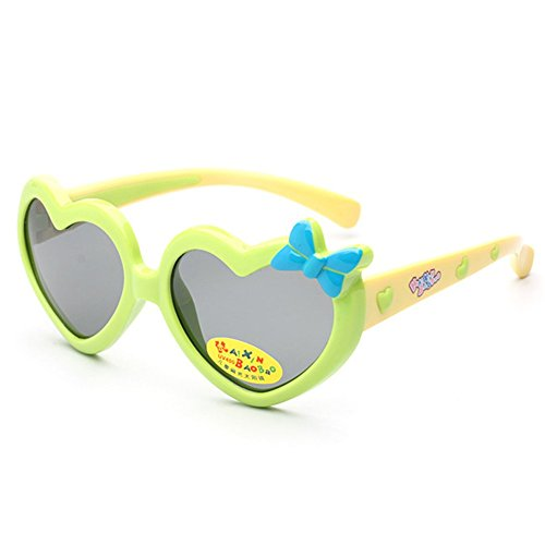 MosierBizne Children Cartoon Love Bow Silicone Sunglasses Men And Women - Beryll Sunglasses