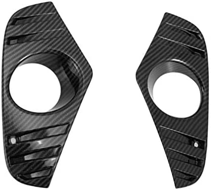 ACAMPTAR For Rav4 2019 2020 Decorate Accessories Abs Fog Light Lamp Cover Trim Bezel Frame Styling Garnish Carbon Fiber