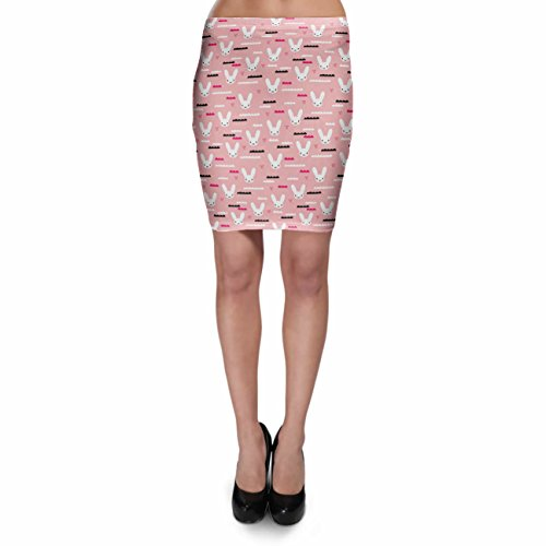 Sky Love Bunny Pink Bodycon Skirt Rock XS-3XL