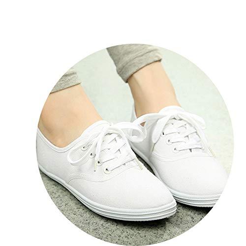 Color Grandes Yuehen Tallas Transpirables Blanco Blanco 42 de 35 Mujer Mujer de Zapatos 8qzqrI