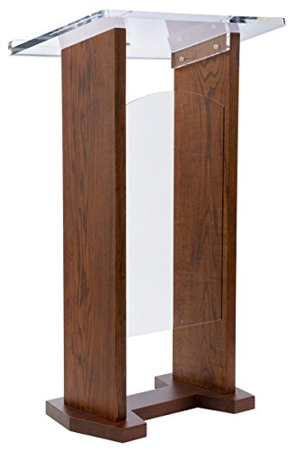 Lectern Podium, Church Pulpit, Solid Oak and Acrylic,, used for sale  Delivered anywhere in USA