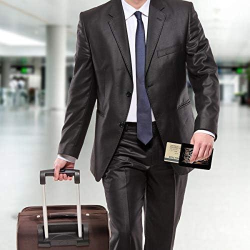 Alice Cooper アリス・クーパー パスポートケース メンズ レディース パスポートカバー パスポートバッグ 携帯便利 シンプル ポーチ 5.5インチ PUレザー スキミング防止 安全な海外旅行用 小型 軽便