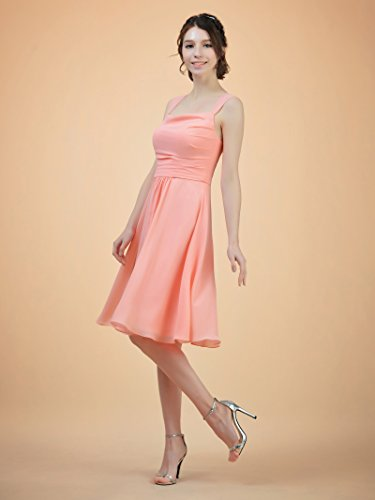 Short Bridesmaid Yellow Alicepub for Dress Gown Prom Neck Party Square Women Evening BOfnw5dfRx