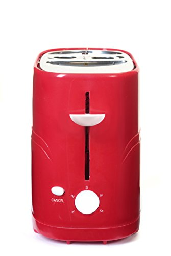 Elite Cuisine ECT-304R Maxi-Matic Hot Dog Toaster, Red