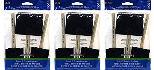 Plaid Enterprises 44269 Foam Brushes, 44269 (9-(Pack)) by Plaid Enterprises, Inc. (Image #1)