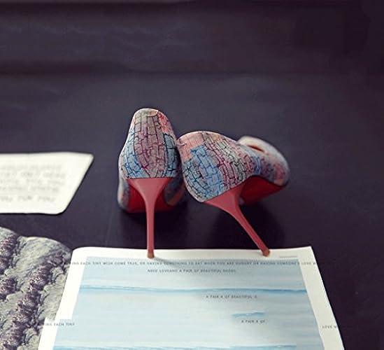 Koko Vaaleanpunainen Matala Kesän Korkokengät Piikkikorko toe Nainen Vuosikerta Kengät Muistutti 36 Muoti väri Sandaalit Suu Seksikäs WBOF6Fnq