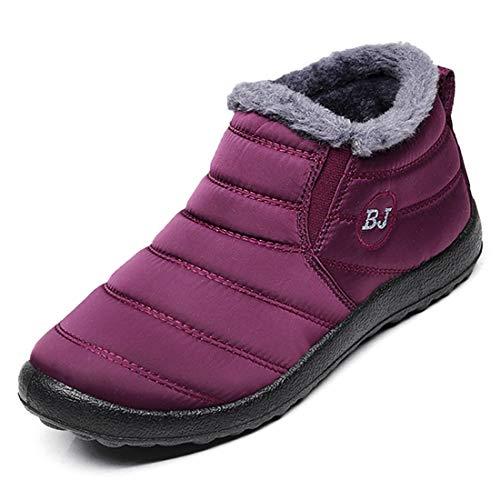 fd7d5ac009b4 Ginjang Women Winter Snow Boots Warm Ankle Boots Anti-Slip Waterproof Winter  Shoes Slip On
