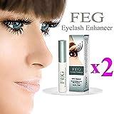 enhancer 2X FEG Eyelash enhancer!!! 2 pieces of most powerful eyelash growth Serum 100% Natural. Promote rapid growth of eyelashes by FEG Eyelash Enhancer