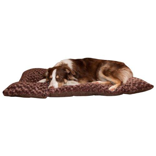 PAW Lavish Cushion Pillow Furry Pet Bed, Large, Chocolate, My Pet Supplies